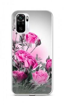 Zadní silikonový kryt na Xiaomi Redmi Note 10 Rozkvetlé růže