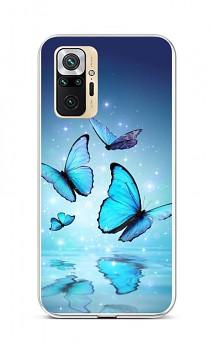 Zadní silikonový kryt na Xiaomi Redmi Note 10 Pro Modří motýlci