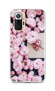 Zadní silikonový kryt na Xiaomi Redmi Note 10 Pro Růžové květy
