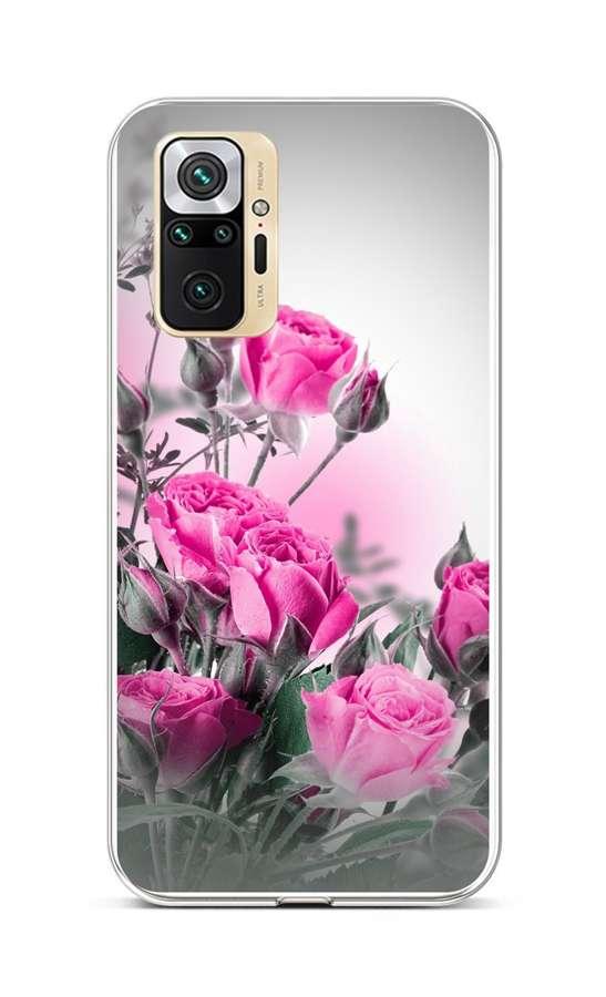 Zadní silikonový kryt na Xiaomi Redmi Note 10 Pro Rozkvetlé růže