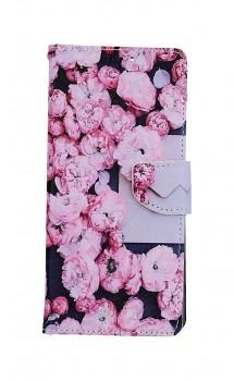Knížkové pouzdro na Xiaomi Redmi Note 10 Pro Růžové květy