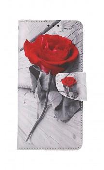 Knížkové pouzdro na Xiaomi Redmi Note 10 Pro Červená růže
