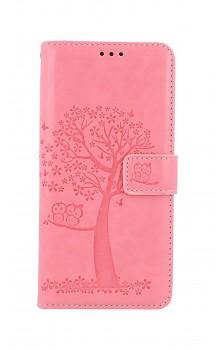 Knížkové pouzdro na Xiaomi Redmi Note 10 Růžový strom sovičky
