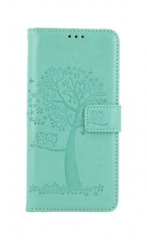 Knížkové pouzdro na Xiaomi Redmi Note 10 Zelený strom sovičky