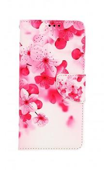 Knížkové pouzdro na Xiaomi Redmi Note 10 Růžové kvítky
