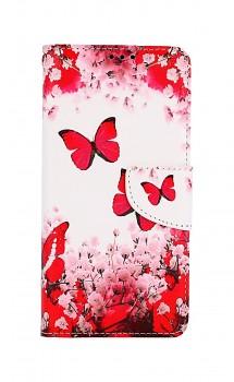 Knížkové pouzdro na Xiaomi Redmi Note 10 Růžoví motýlci