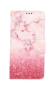 Knížkové pouzdro na Xiaomi Redmi Note 10 Pro Růžový mramor