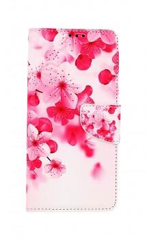 Knížkové pouzdro na Xiaomi Redmi Note 10 Pro Růžové kvítky