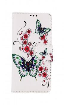 Knížkové pouzdro na Xiaomi Redmi Note 10 Pro Motýlci s květinou