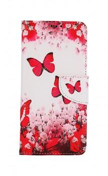 Knížkové pouzdro na Xiaomi Redmi Note 10 Pro Růžoví motýlci