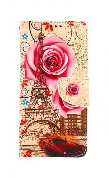Knížkové pouzdro na Xiaomi Redmi Note 10 Pro Rozkvetlá Paříž