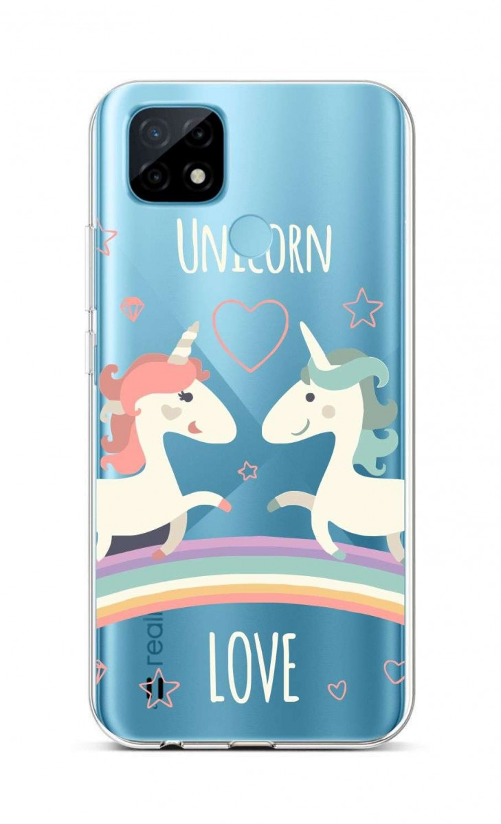 Zadní silikonový kryt na Realme C21 Unicorn Love