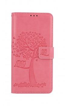 Knížkové pouzdro na Xiaomi Redmi Note 10 Pro Růžový strom sovičky