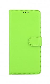 Knížkové pouzdro na Xiaomi Redmi Note 10 Pro zelené s přezkou