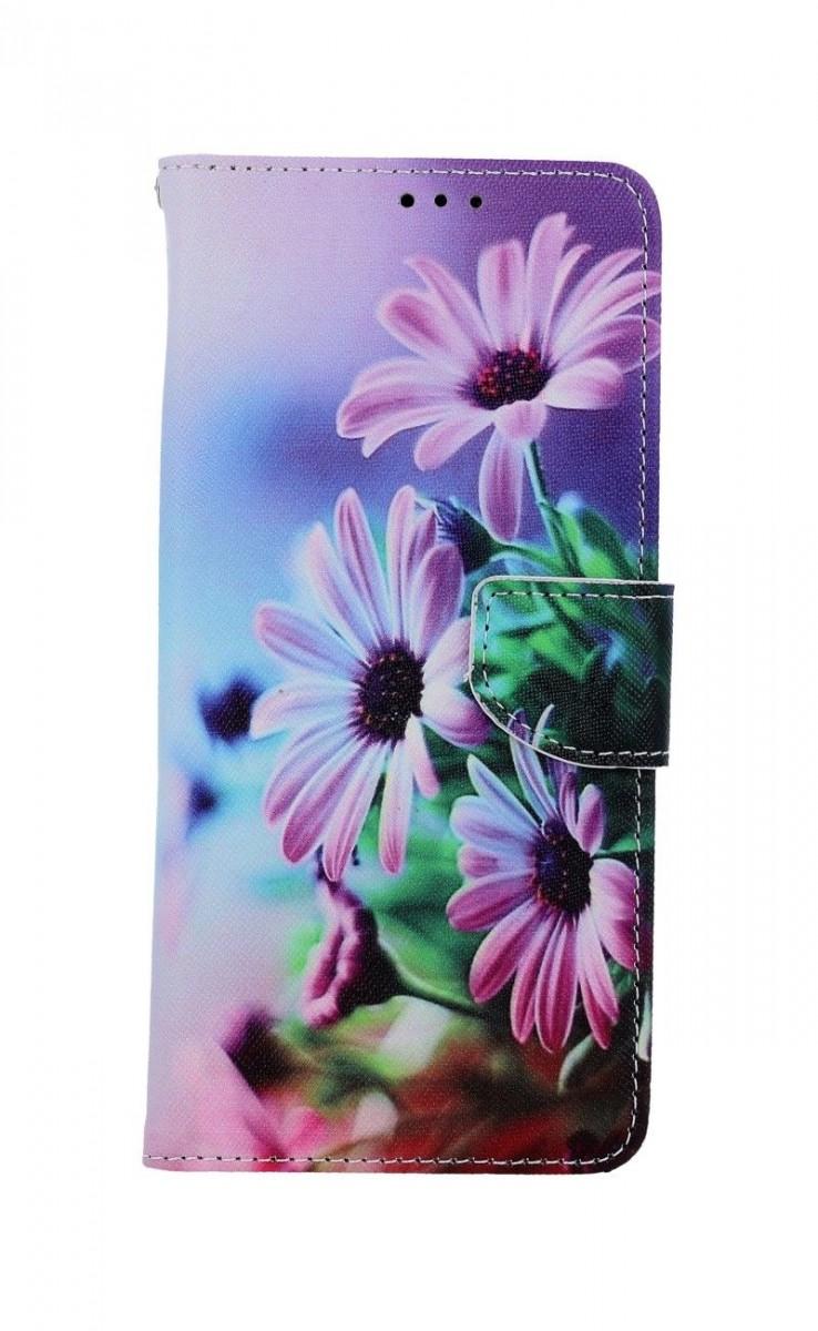 Knížkové pouzdro na Xiaomi Redmi Note 10 Fialové květy