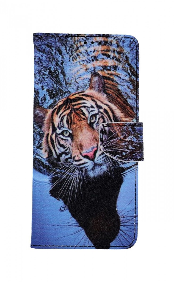 Knížkové pouzdro na Xiaomi Redmi Note 10 Hnědý tygr