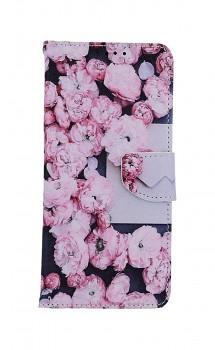 Knížkové pouzdro na Xiaomi Redmi Note 10 Růžové květy