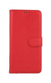 Knížkové pouzdro na Xiaomi Redmi Note 10 červené s přezkou
