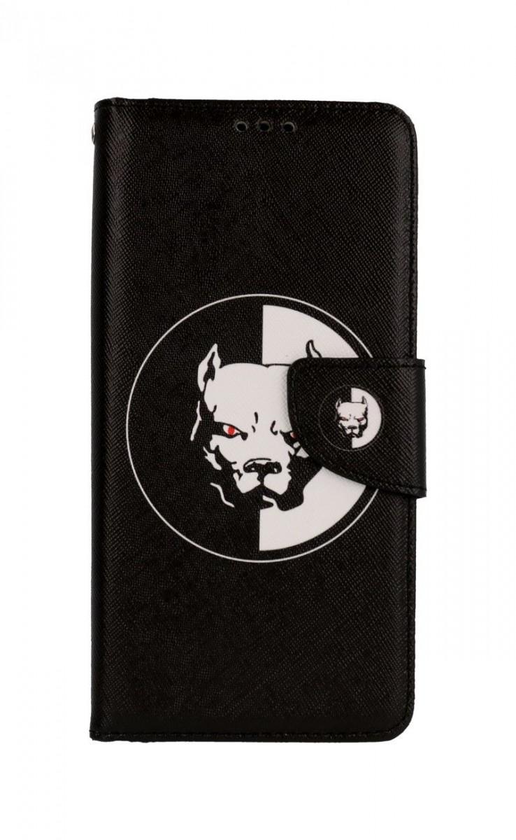 Knížkové pouzdro na Xiaomi Redmi Note 9 Pro Černobílý pitbull