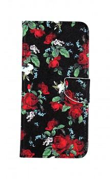 Knížkové pouzdro na Xiaomi Redmi Note 9 Pro Květy růží