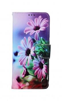 Knížkové pouzdro na Xiaomi Redmi Note 9 Fialové květy