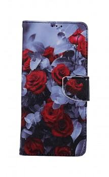 Knížkové pouzdro na Xiaomi Redmi Note 9 Červené růže mix