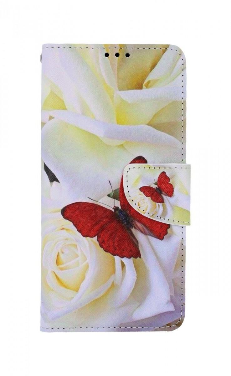 Knížkové pouzdro na Samsung A12 Červený motýl