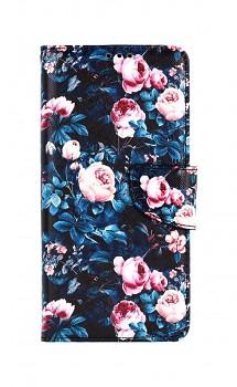 Knížkové pouzdro na Samsung A12 Růžičky
