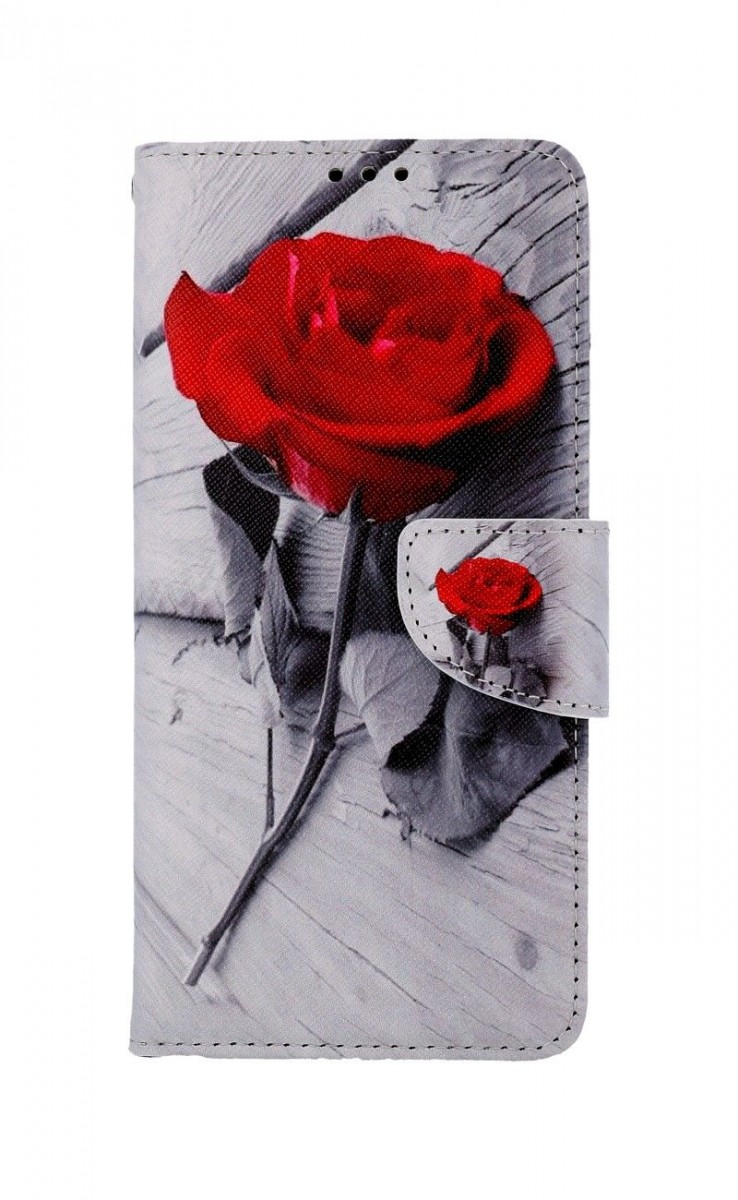 Knížkové pouzdro na Samsung A12 Červená růže