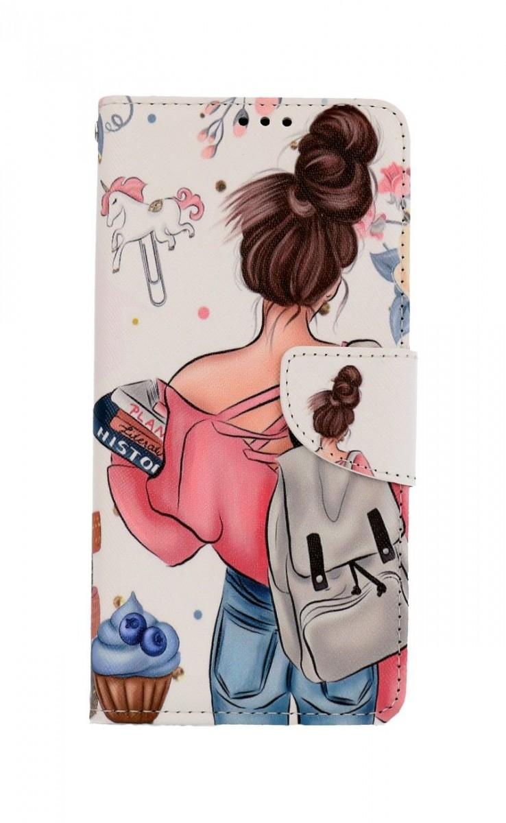 Knížkové pouzdro na Samsung A12 Dívka