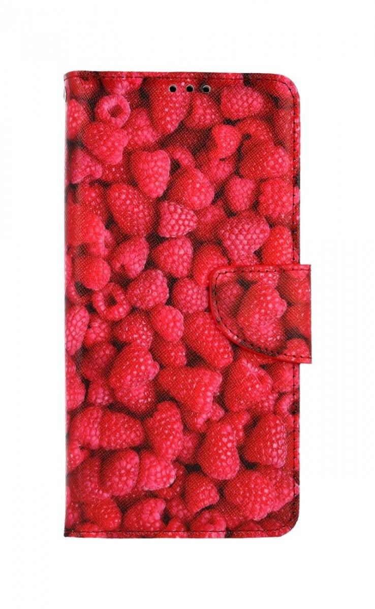 Knížkové pouzdro na Samsung A12 Maliny