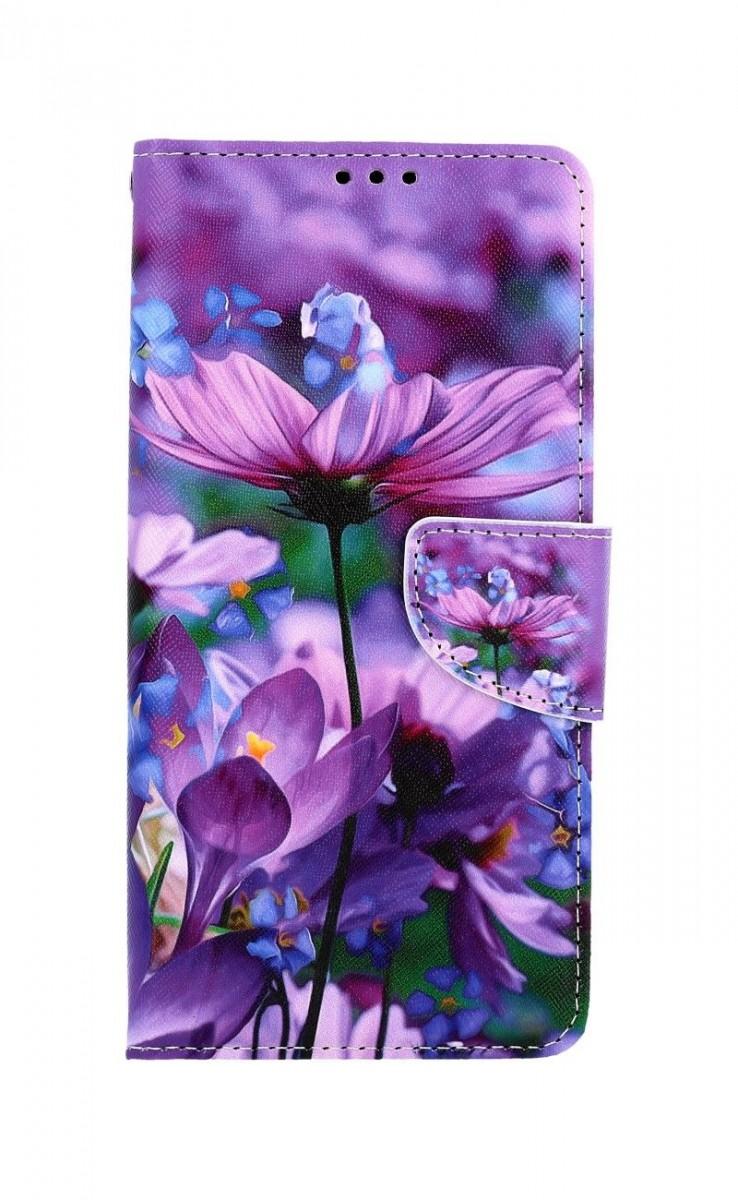 Knížkové pouzdro na Samsung A12 Rozkvetlé květy