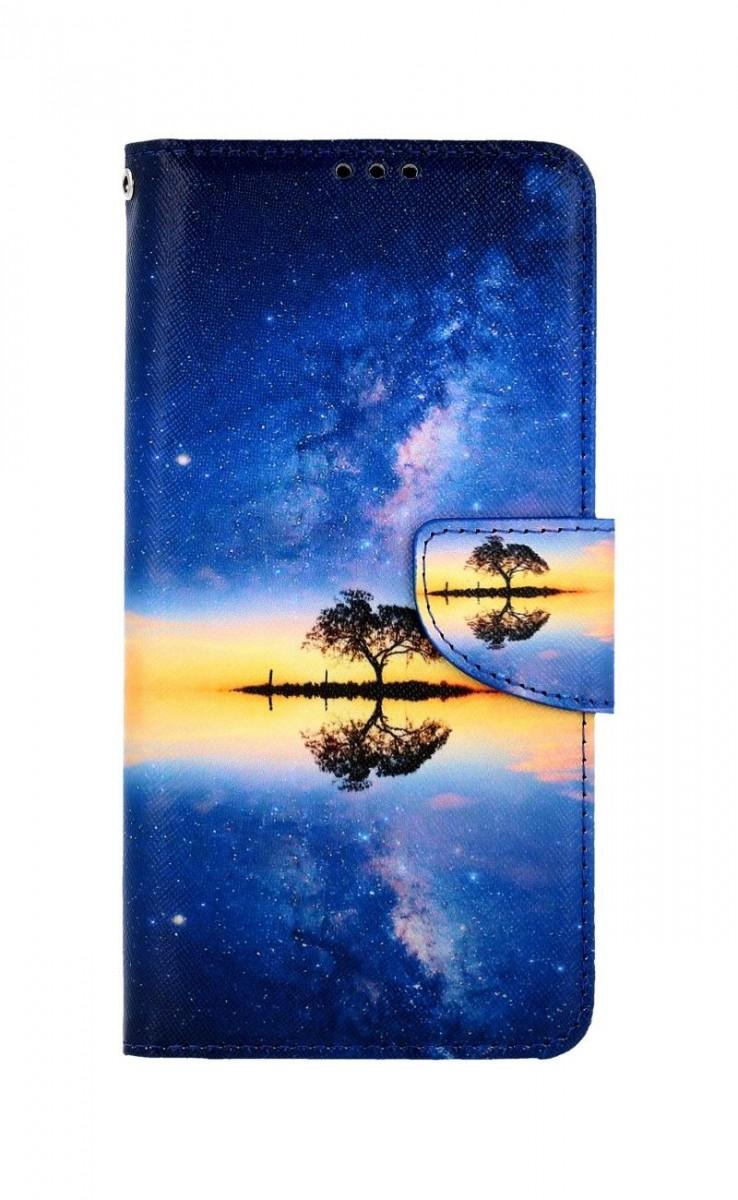 Knížkové pouzdro na Samsung A12 Noční obloha