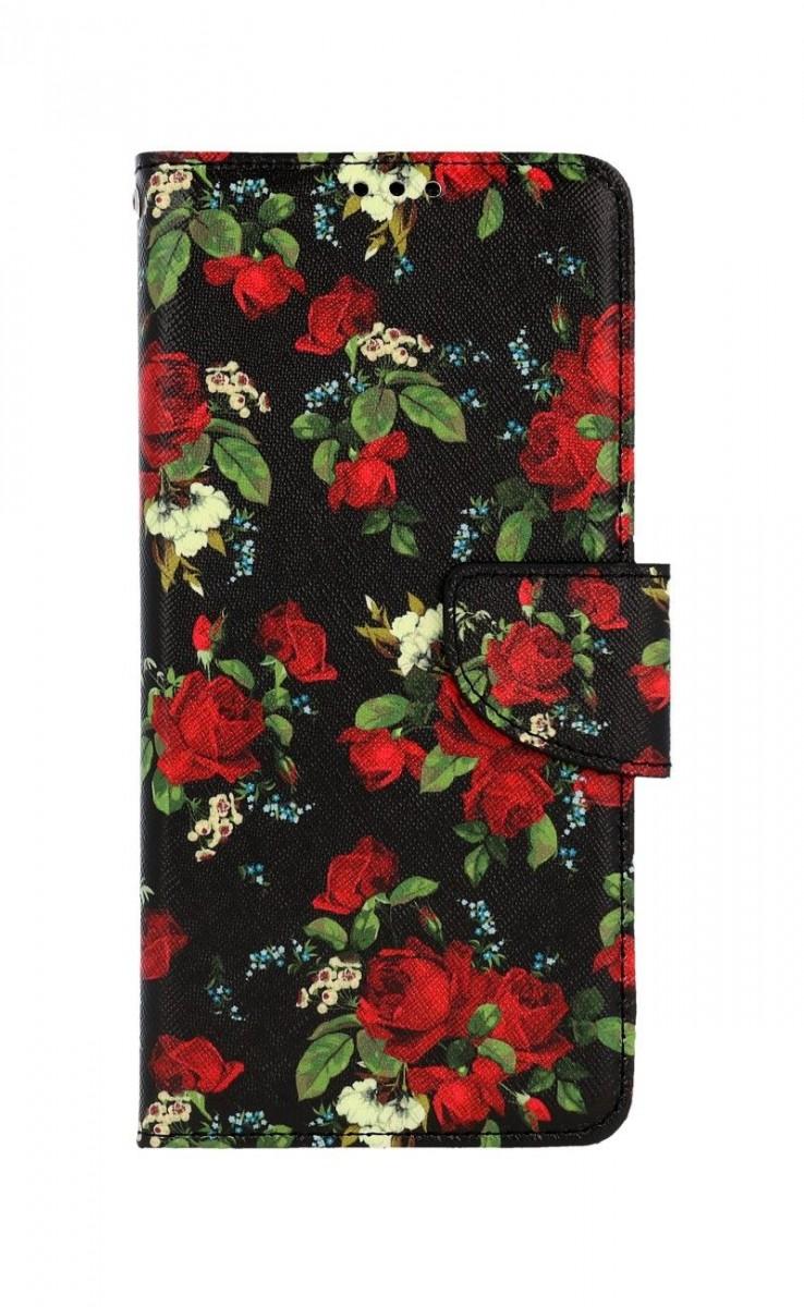Knížkové pouzdro na Samsung A12 Květy růží