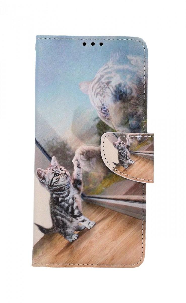 Knížkové pouzdro na Samsung A12 Odraz tygra