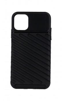Zadní silikonový kryt Thunder na iPhone 11 černý