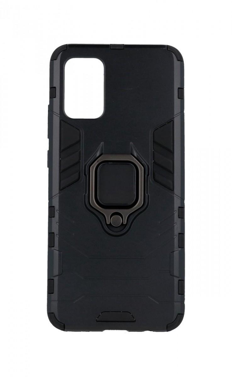Kryt TopQ Samsung A02s odolný černý s prstenem 60325 (pouzdro neboli obal na mobil Samsung A02s)