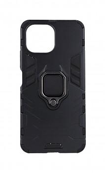 Ultra odolný zadní kryt na Xiaomi Mi 11 Lite černý s prstenem