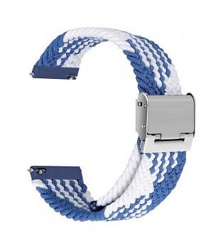 Pletený řemínek Braid pro Apple Watch 3-4-5-6-SE 42-44mm modro-bílý
