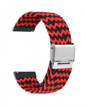 Pletený řemínek Braid pro Apple Watch 3-4-5-6-SE 42-44mm červeno-černý