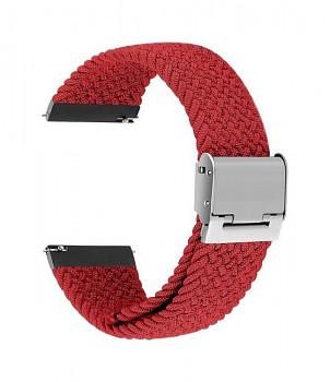 Pletený řemínek Braid pro Apple Watch 3-4-5-6-SE 42-44mm červený