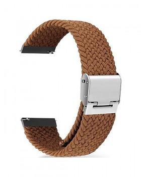Pletený řemínek Braid pro Apple Watch 3-4-5-6-SE 42-44mm hnědý