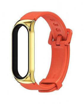Silikonový řemínek STYLE pro Xiaomi Mi Band 3-4-5-6 oranžový