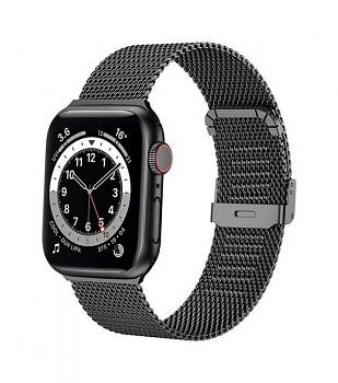 Ocelový řemínek LUXURY pro Apple Watch 3-4-5-6-SE 42-44mm černý