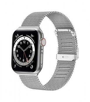 Ocelový řemínek LUXURY pro Apple Watch 3-4-5-6-SE 42-44mm stříbrný