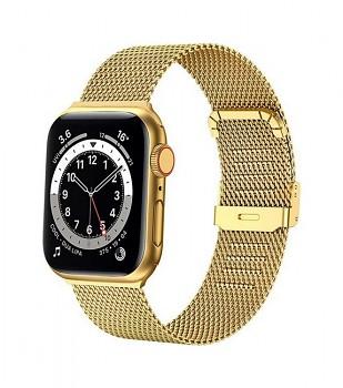 Ocelový řemínek LUXURY pro Apple Watch 3-4-5-6-SE 42-44mm zlatý