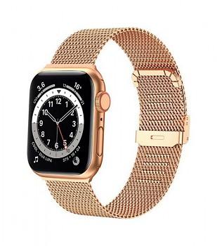 Ocelový řemínek LUXURY pro Apple Watch 3-4-5-6-SE 42-44mm rose gold