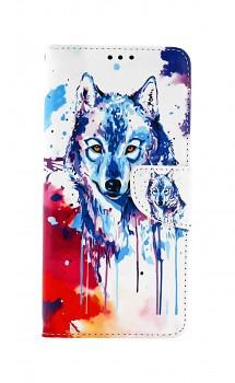 Knížkové pouzdro na Realme C21 Kresba vlka
