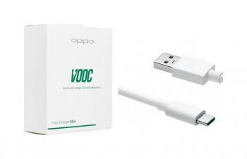 Originální rychlonabíječka Oppo včetně USB-C datového kabelu bílá 4A 20W