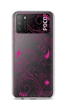 Zadní silikonový kryt na Xiaomi Poco M3 Pink Ornament